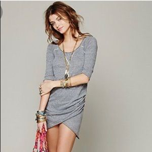 Free people grey jersey dress